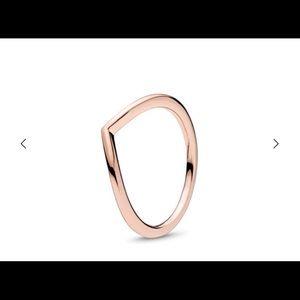 Pandora rose gold shining wish ring size 7